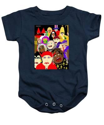 Mardi Gras New Orleans Baby Onesie