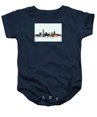 Oklahoma City Skyline Baby Onesie