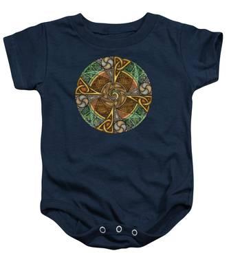 Celtic Aperture Mandala Baby Onesie