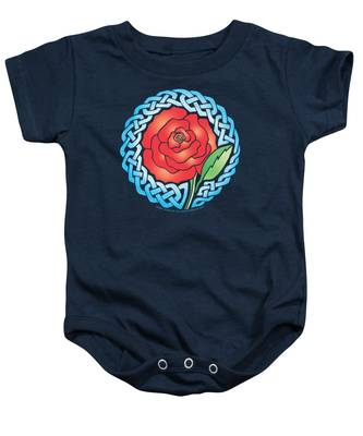 Celtic Rose Stained Glass Baby Onesie
