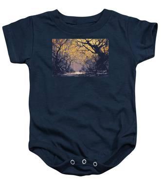 Dark Forest Baby Onesie