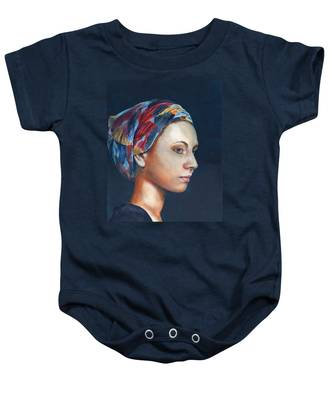 Girl With Headscarf Baby Onesie