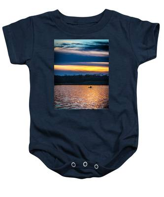 Kayak Sunset Baby Onesie
