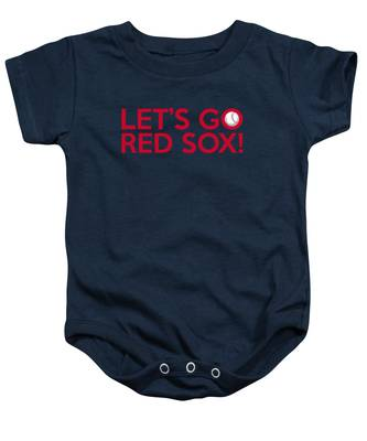 Let's Go Red Sox Baby Onesie