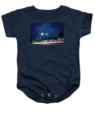 Night Lights In Montego Bay City Baby Onesie