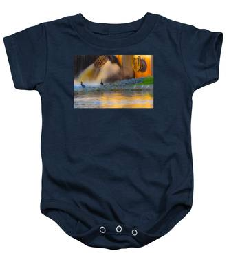 Baby Onesie featuring the photograph Open The Dam by Dart and Suze Humeston