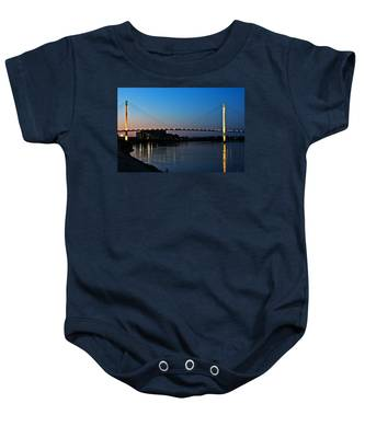Sunset On The Bob Kerry Pedestrian Bridge Baby Onesie
