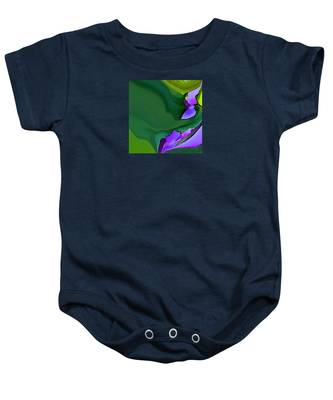 Orchids And Emeralds Baby Onesie