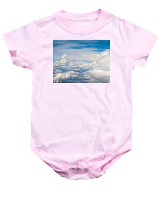 Above The Clouds Over Texas Image B Baby Onesie