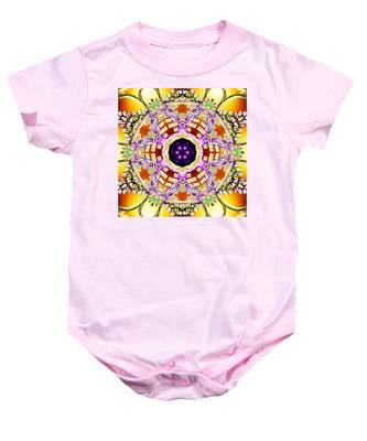 Baby Onesie featuring the digital art Magick Souls by Derek Gedney