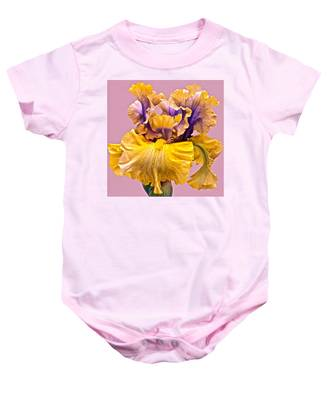 Spectacular Iris Close Up Baby Onesie