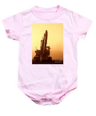 Sunset Excavator Baby Onesie