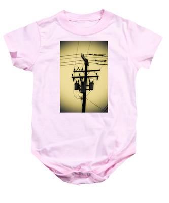 Telephone Pole 3 Baby Onesie