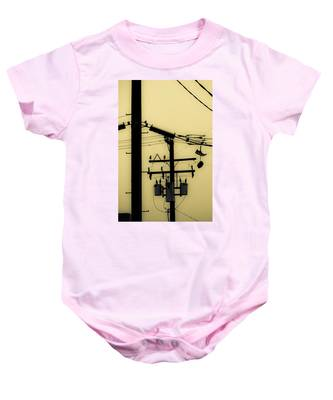 Telephone Pole And Sneakers 5 Baby Onesie