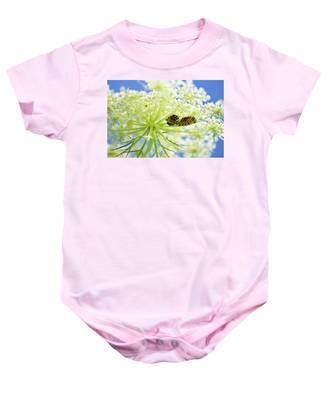 A Caterpillars Palace Baby Onesie