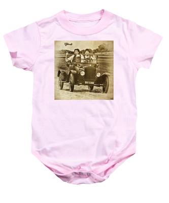 Not Likely Laurel And Hardly Hardy Baby Onesie