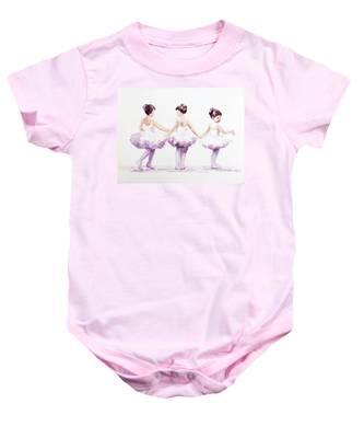 Little Ballerinas-3 Baby Onesie