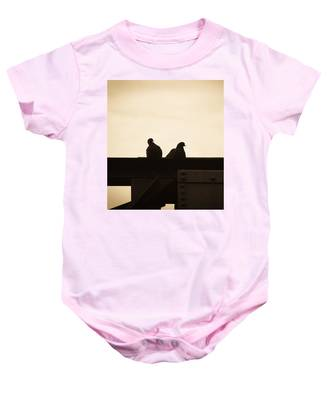 Pigeon And Steel Baby Onesie
