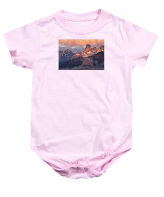 Snow On Chimney Rock Baby Onesie