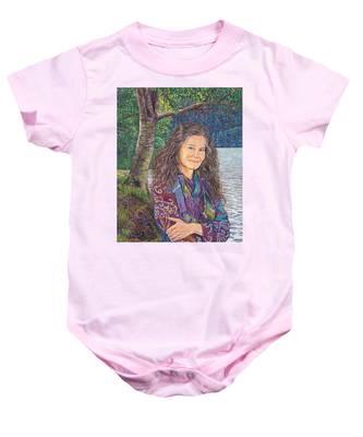 The Color Violet Baby Onesie