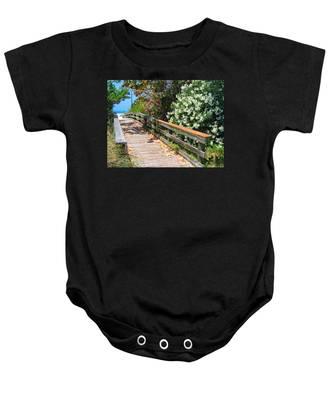 Pathway To Beach Baby Onesie
