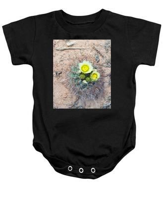 Barrel Cactus Blossoms Baby Onesie