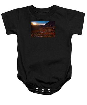 Bathing In Last Light Baby Onesie
