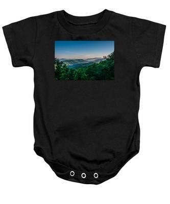 Beautiful Scenery From Crowders Mountain In North Carolina Baby Onesie