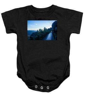 Blue Morning On The Bastei Baby Onesie