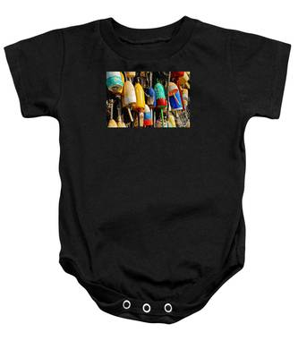 Buoys From Russell's Lobsters Baby Onesie