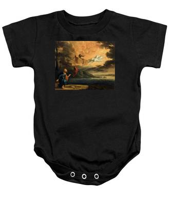 Elijah Taken Up Into Heaven In The Chariot Of Fire Baby Onesie