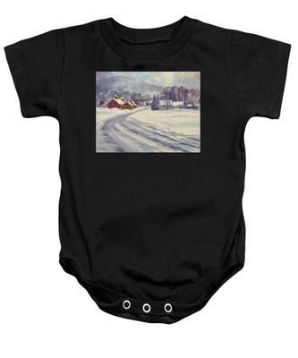 Felchville Village In The Snow Baby Onesie