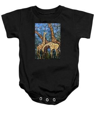 Giraffe Family Baby Onesie