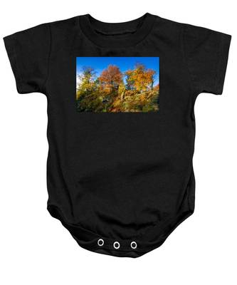 Golden Autumn On Neurathen Castle Baby Onesie