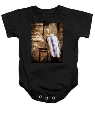 Harken Unto My Prayer O Lord Western Wall Jerusalem Baby Onesie