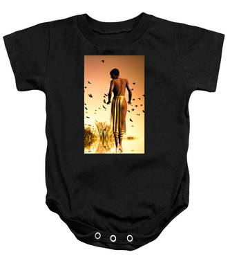 Her Morning Walk Baby Onesie