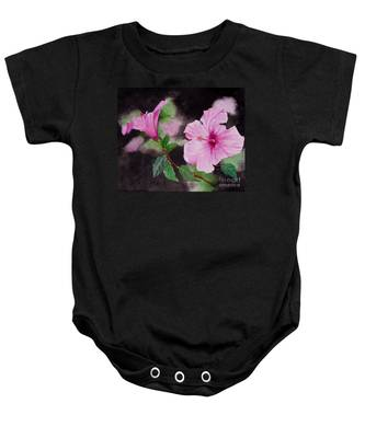 Hibiscus - So Pretty In Pink Baby Onesie