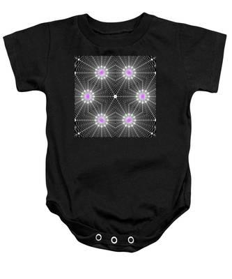Baby Onesie featuring the digital art Infinity Grid Six by Derek Gedney