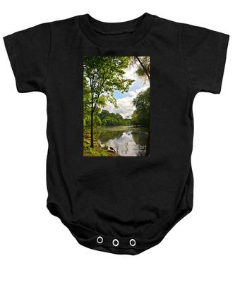 July Fourth Duck Pond With Goose Baby Onesie