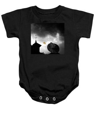 Light In The Window Baby Onesie