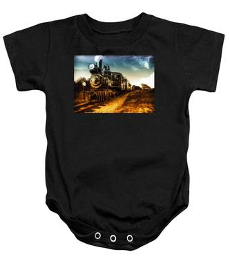 Locomotive Number 4 Baby Onesie