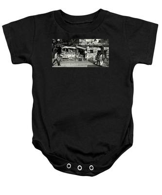 Man Woman And Schoolgirls Baby Onesie