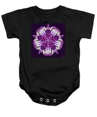 Baby Onesie featuring the digital art Nature's Mandala 22 by Derek Gedney