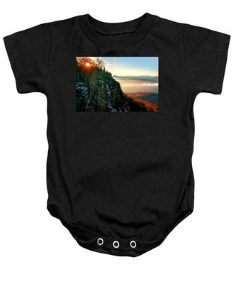 Red Sun Rays On The Lilienstein Baby Onesie