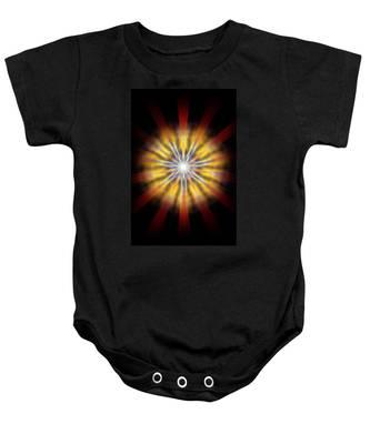 Baby Onesie featuring the drawing Seven Sistars Of Light by Derek Gedney