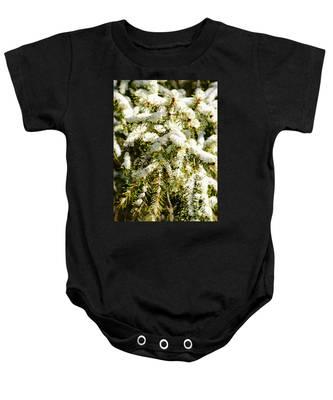 Snowy Pines Baby Onesie