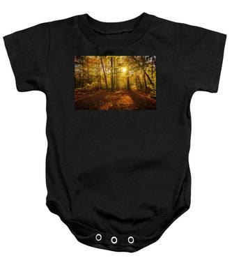 Sunset Forest Baby Onesie