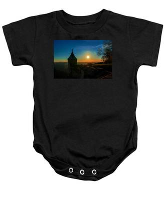 Sunset On The Fortress Koenigstein Baby Onesie