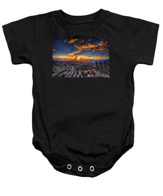 Tel Aviv Sunset Time Baby Onesie