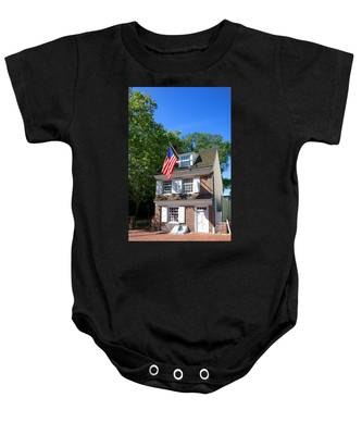 The Betsy Ross House Baby Onesie